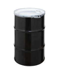"""30 Gallon Steel Drum, UN Rated, Cover w/Lever Lock Ring Closure, 2"""" & 3/4"""" Fittings"""