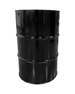"""55 Gallon Black Tight Head Steel Drum, UN Rated, 2"""" & 3/4"""" Fittings, Unlined"""