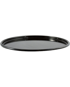26 Gauge Black Steel Dish Cover, Unlined (for 3-5 Gallon Pails)