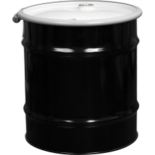 """20 Gallon Steel Drum, UN Rated, Cover w/Bolt Ring Closure, 2"""" & 3/4"""" Fittings"""