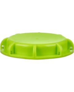 "2"" NPT Short Green Dust Cap for IBCs Tote Valves, PE Foam Gasket"