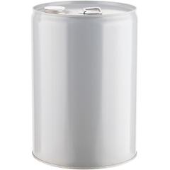 6 Gallon Gray Tight Head Steel Pail, 2-1/8