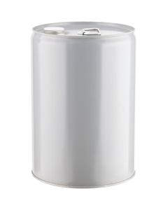 "6 Gallon Gray Tight Head Steel Pail, 2-1/8"" Spout, Cap & Seal, Epoxy Phenolic Lining"