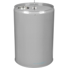 """6 Gallon Gray Tight Head Steel Pail with 2-1/8"""" Spout and Epoxy Phenolic Lining"""