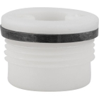 """3/4"""" Tri-Sure® HDPE Drum Plug with Skirt, Poly Irradiated Gasket"""