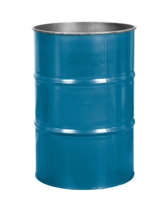 55 Gallon Ashland Blue Steel Drum, Reconditioned (No Cover)