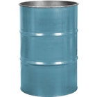55 Gallon Light Blue Steel Drum, Reconditioned (No Cover)