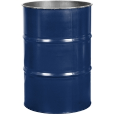 55 Gallon Waste Blue Steel Drum, Reconditioned (No Cover)