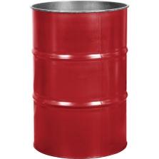 55 Gallon Citgo Red Steel Drum, Reconditioned (No Cover)