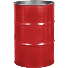 55 Gallon Shell Red Steel Drum, Reconditioned (No Cover)