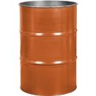 55 Gallon Sun Orange Steel Drum, Reconditioned (No Cover)