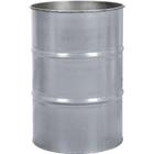 55 Gallon Silver Steel Drum, Reconditioned (No Cover)