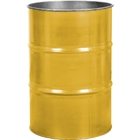 55 Gallon Center Line Yellow Steel Drum, Reconditioned (No Cover)