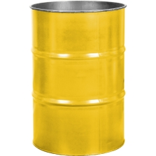 55 Gallon Shell Yellow Steel Drum, Reconditioned (No Cover)