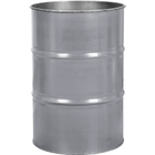 55 Gallon Ring Dip Gray Steel Drum, Reconditioned (No Cover)