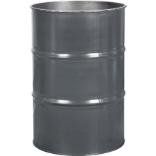 55 Gallon Durkee Gray Steel Drum, Reconditioned (No Cover)