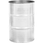 55 Gallon White Steel Drum, Reconditioned (No Cover)