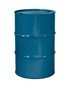 """55 Gallon Chevron Blue Tight Head Steel Drum, Reconditioned, UN Rated, 2"""" & 3/4"""" Fittings, Unlined"""