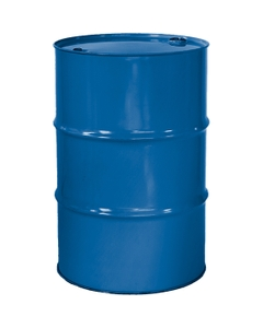 """55 Gallon Coleman Blue Tight Head Steel Drum, Reconditioned, UN Rated, 2"""" & 3/4"""" Fittings, Unlined"""