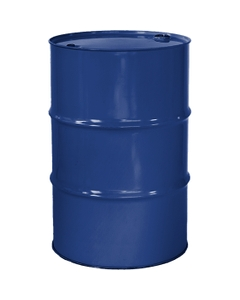 """55 Gallon McWhorter Blue Tight Head Steel Drum, Reconditioned, UN Rated, 2"""" & 3/4"""" Fittings, Unlined"""