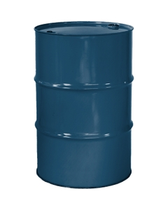 """55 Gallon Superior Blue Tight Head Steel Drum, Reconditioned, UN Rated, 2"""" & 3/4"""" Fittings, Unlined"""