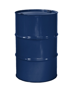 """55 Gallon Waste Blue Tight Head Steel Drum, Reconditioned, UN Rated, 2"""" & 3/4"""" Fittings, Unlined"""