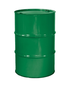 """55 Gallon Asco Green Tight Head Steel Drum, Reconditioned, UN Rated, 2"""" & 3/4"""" Fittings, Unlined"""
