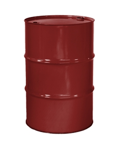 """55 Gallon Mobil Red Tight Head Steel Drum, Reconditioned, UN Rated, 2"""" & 3/4"""" Fittings, Unlined"""