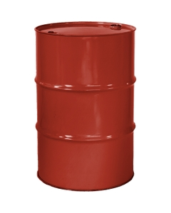 """55 Gallon Red Orange Tight Head Steel Drum, Reconditioned, UN Rated, 2"""" & 3/4"""" Fittings, Unlined"""