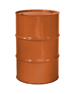 """55 Gallon Sun Orange Tight Head Steel Drum, Reconditioned, UN Rated, 2"""" & 3/4"""" Fittings, Unlined"""