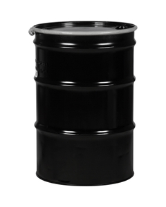 """55 Gallon Steel Drum, Reconditioned, UN Rated, Cover w/Bolt Ring Closure, 2"""" & 3/4"""" Fittings"""