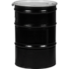 """55 Gallon Steel Drum, Reconditioned, UN Rated, Lined, Cover w/Bolt Ring Closure, 2"""" & 3/4"""" Fittings"""