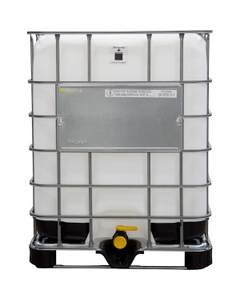 """330 Gallon Reconditioned IBC Tote with 2"""" NPT Valve, Plastic Pallet"""