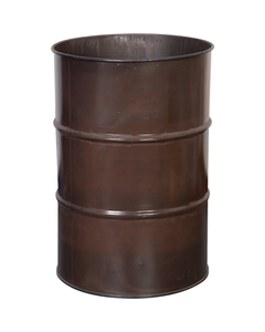 55 Gallon Medium Brown Steel Drum, Reconditioned (No Cover)