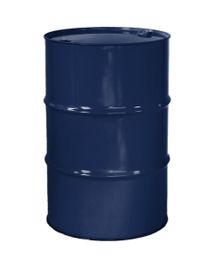 """55 Gallon Valvoline Blue Tight Head Steel Drum, Reconditioned, UN Rated, 2"""" & 3/4"""" Fittings, Lined"""