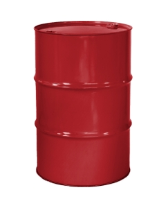 """55 Gallon Citgo Red Tight Head Steel Drum, Reconditioned, UN Rated, 2"""" & 3/4"""" Fittings, Lined"""