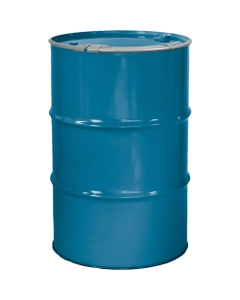 """55 Gallon Ashland Blue Steel Drum, Reconditioned, Unlined, Cover w/Lever Lock Ring, 2"""" & 3/4"""" Fittings"""
