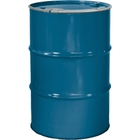 """55 Gallon Chevron Blue Steel Drum, Reconditioned, Unlined, Cover w/Lever Lock Ring, 2"""" & 3/4"""" Fittings"""