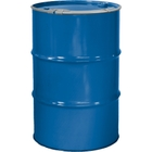 """55 Gallon Coleman Blue Steel Drum, Reconditioned, Unlined, Cover w/Lever Lock Ring, 2"""" & 3/4"""" Fittings"""
