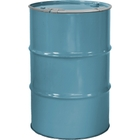 """55 Gallon Light Blue Steel Drum, Reconditioned, Unlined, Cover w/Lever Lock Ring, 2"""" & 3/4"""" Fittings"""