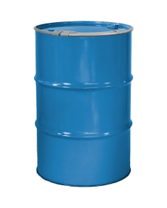 """55 Gallon PPG Blue Steel Drum, Reconditioned, Unlined, Cover w/Lever Lock Ring, 2"""" & 3/4"""" Fittings"""