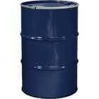 """55 Gallon Valvoline Blue Steel Drum, Reconditioned, Unlined, Cover w/Lever Lock Ring, 2"""" & 3/4"""" Fittings"""