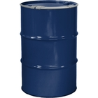 """55 Gallon Waste Blue Steel Drum, Reconditioned, Unlined, Cover w/Lever Lock Ring, 2"""" & 3/4"""" Fittings"""
