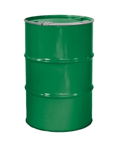 """55 Gallon Asco Green Steel Drum, Reconditioned, Unlined, Cover w/Lever Lock Ring, 2"""" & 3/4"""" Fittings"""