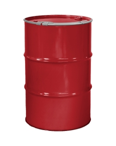 """55 Gallon Citgo Red Steel Drum, Reconditioned, Unlined, Cover w/Lever Lock Ring, 2"""" & 3/4"""" Fittings"""