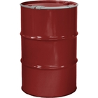 """55 Gallon Mobil Red Steel Drum, Reconditioned, Unlined, Cover w/Lever Lock Ring, 2"""" & 3/4"""" Fittings"""