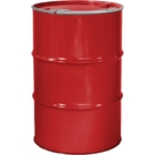 """55 Gallon Shell Red Steel Drum, Reconditioned, Unlined, Cover w/Lever Lock Ring, 2"""" & 3/4"""" Fittings"""