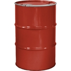 """55 Gallon Red Orange Steel Drum, Reconditioned, Unlined, Cover w/Lever Lock Ring, 2"""" & 3/4"""" Fittings"""