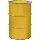 """55 Gallon Center Line Yellow Steel Drum, Reconditioned, Unlined, Cover w/Lever Lock Ring, 2"""" & 3/4"""" Fittings"""