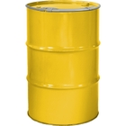 """55 Gallon Shell Yellow Steel Drum, Reconditioned, Unlined, Cover w/Lever Lock Ring, 2"""" & 3/4"""" Fittings"""